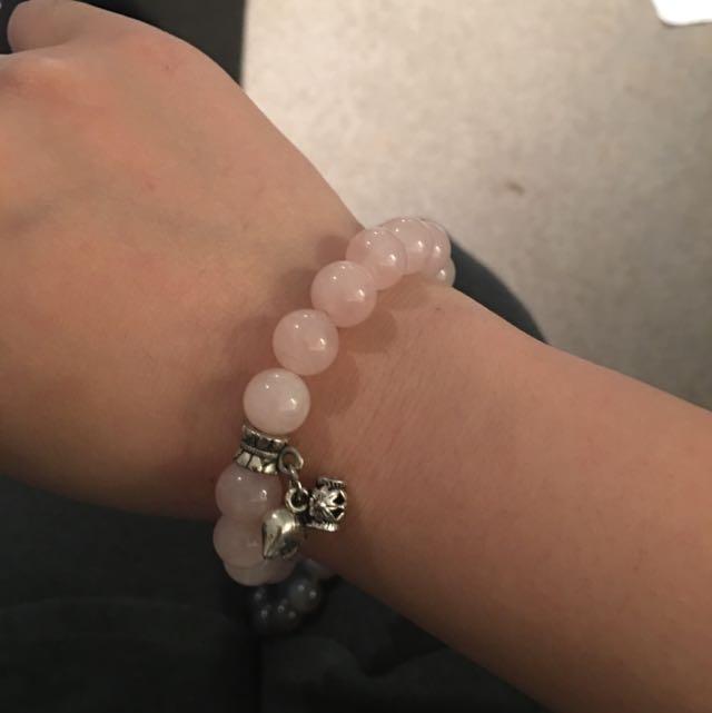 pink crystal bracelet