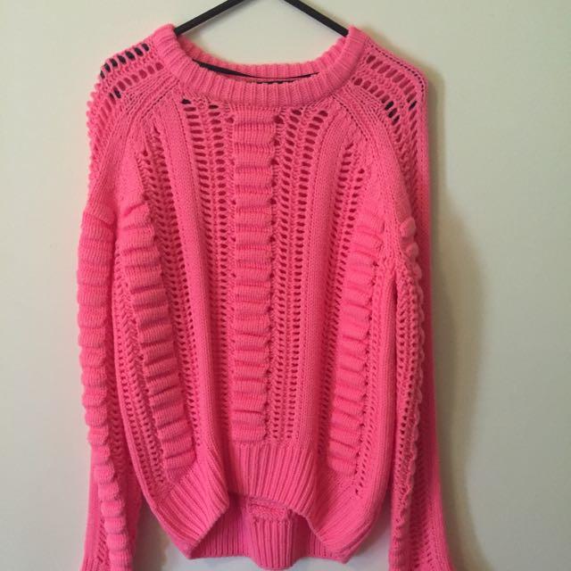 Pink Mink Pink knit
