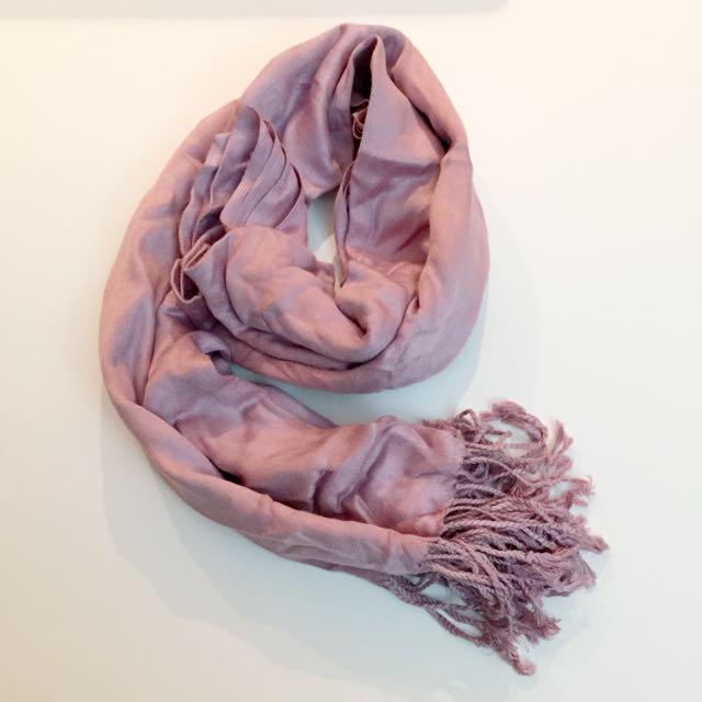 Purple Pink Shinny Cashmina Scarf