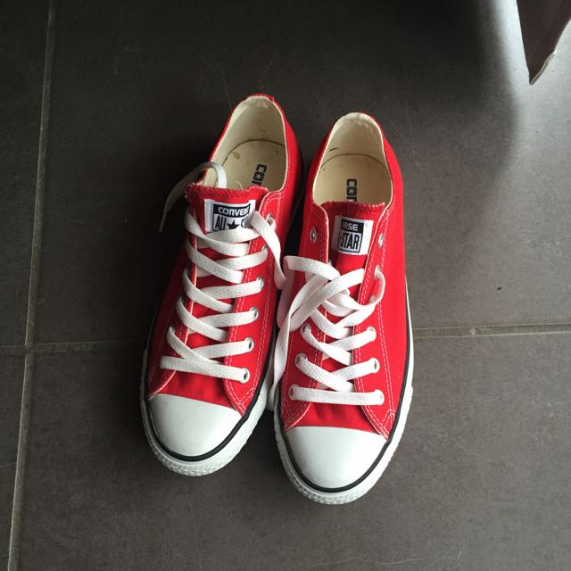 RED Converse Womans Size 9