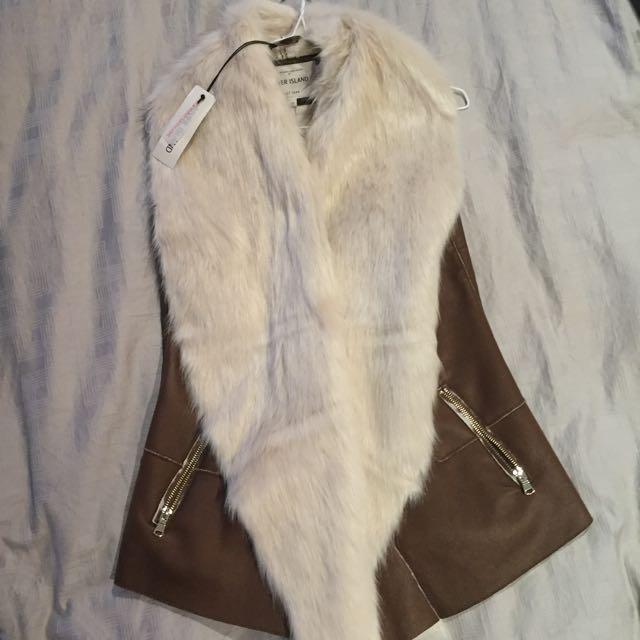River Island Fur Vest