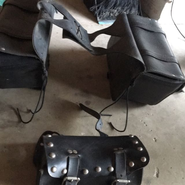 Saddle Bags And Tool Bag