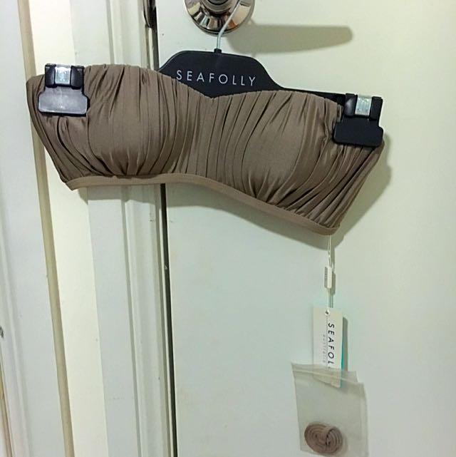 Size 10 Seafolly Bandeau Bikini Top