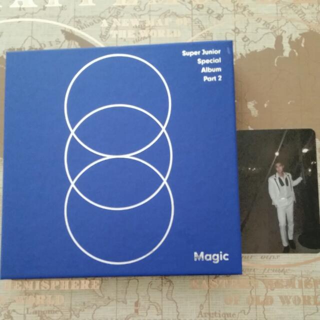UNSEALED Super Junior Magic Album with Siwon Photocard