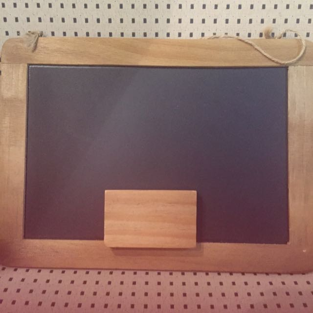 Typo Chalkboard With Duster