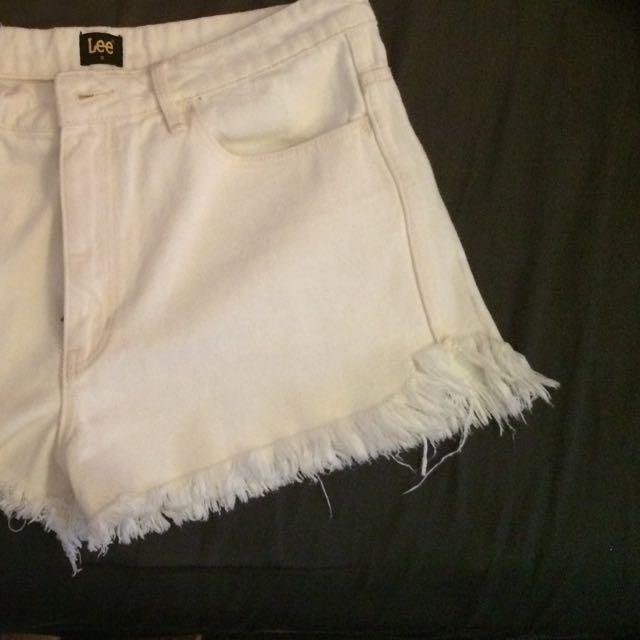 Vintage White High Top Shorts