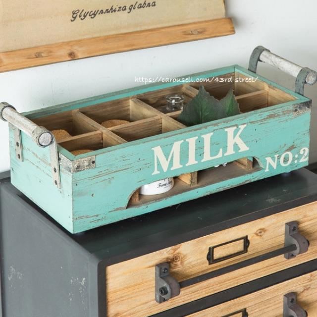 Wooden storage crate multi-grid storage box retro wooden