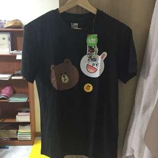Line 熊大 兔兔 T Shirt