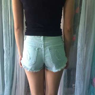 Baby Blue Forever 21 Shorts