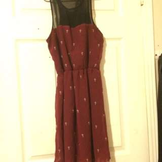 Black And Red With Crosses Dress