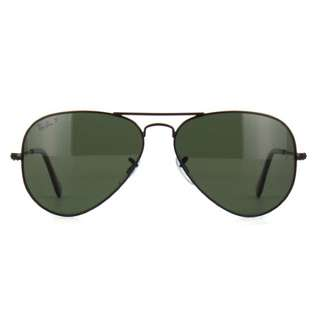 Ray Ban Polarised Black Matte Aviators