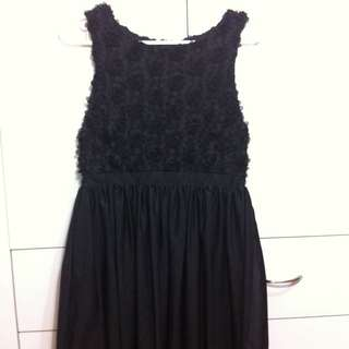 Black Open Back Dress