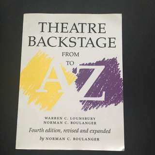 Theatre Backstage Textbook