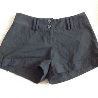 Black Flare-out Shorts