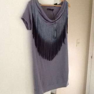Festival Ombré Fringe Dress