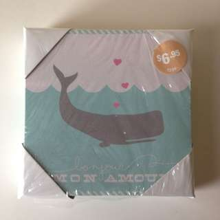 Typo Whale Canvas
