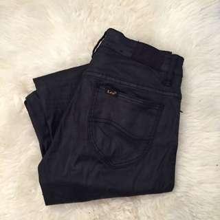 High Waisted Waxed Black Lee Jeans