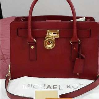 Authentic Mk Hamilton Saffiano Bag.