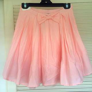 Mod cloth Pink Skirt With Tulle Underlay