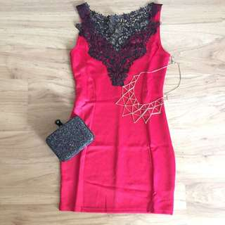 [reduced] Lace Red Dress