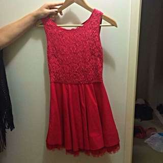Ask Grace Red Dress