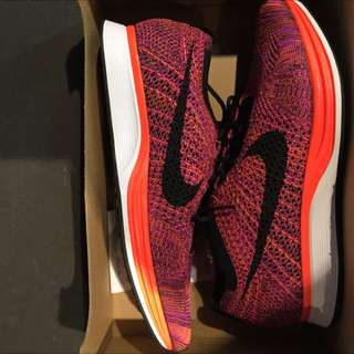 Nike Flyknit Racer Hyper Orange US10 DS