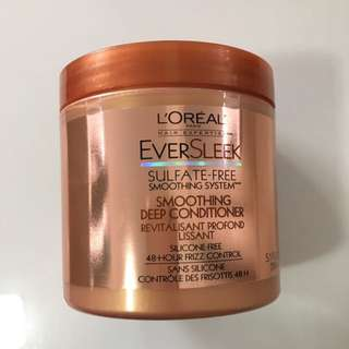 Loreal Ever Sleek Sulfate Free Smoothing Deep Conditioner