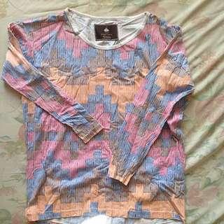 Long Sleeve Colorful Shirt