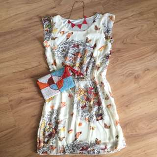 [reduced] Butterfly Print Casual Dress