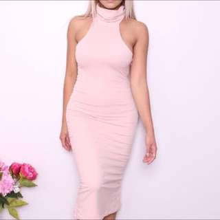 Blush Turtle Neck Dress XS #pinkisthenewblack