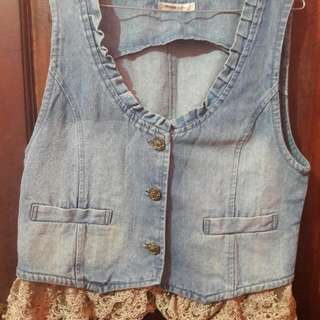vest lace jeans
