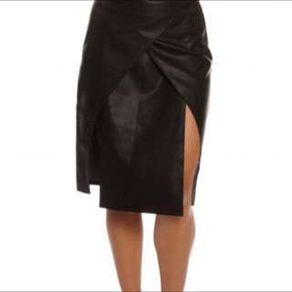 New Staple The Label Faux Leather Skirt Size 8