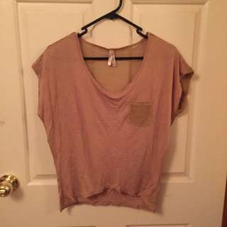 T-Shirt With Mesh Back