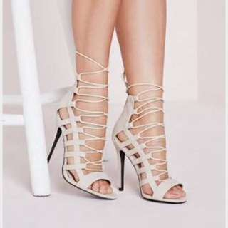 Missguided Lace/Tie Up Heels
