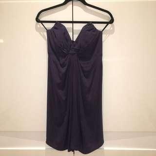 Zimmermann Silk Twist Strapless Dress