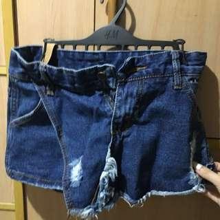 全新 含吊牌 韓系 褲裙 迷你短褲裙 XS 彈性合身
