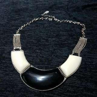 Statement Necklace In Black & White