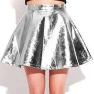 Silver Flarey Skirt