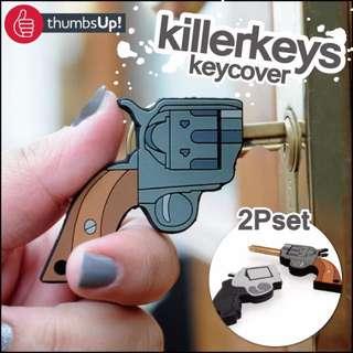 日本進口 左輪手槍造型鑰匙補護套 一對組合 送人自用兩相宜