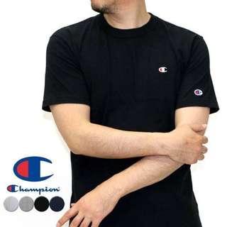 2016 日版 冠軍 Champion 經典 刺繡 小Logo 短T 短袖 黑 灰 深藍 白