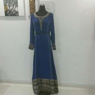 Studiofrost Royal Blue Egyptian Maxi Dress
