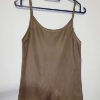 4$ (mailed) brown tanktop