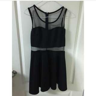 透視顯瘦連身裙