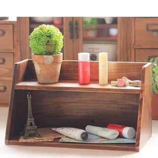 懷舊實木收納櫃 裝飾擺設