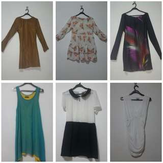 Preloved Dress Selling at 7sgd each  Take All Items for 30 Sgd