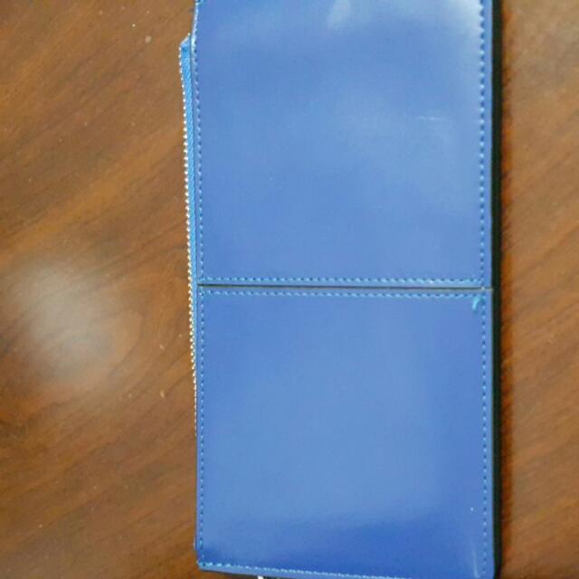 寶藍色多層手拿包
