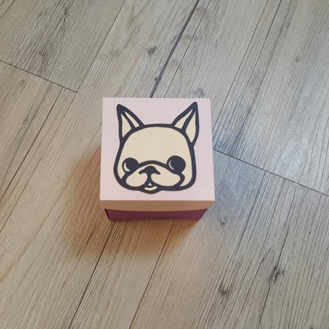 手作鬥牛犬禮物盒