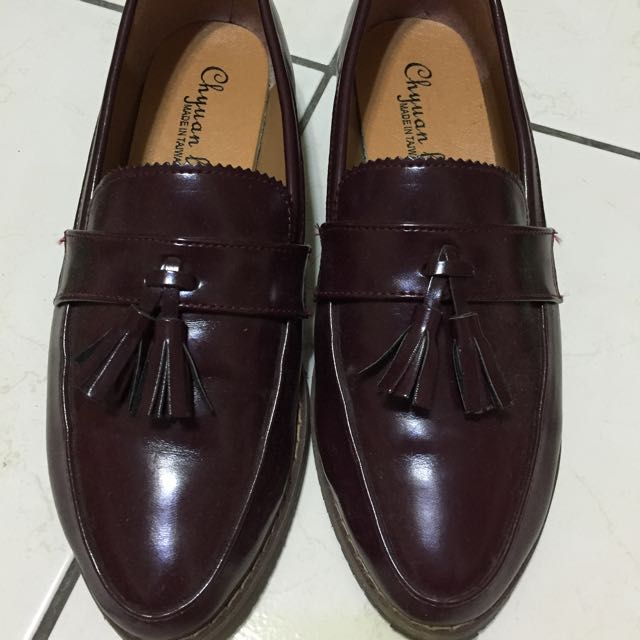 酒紅牛津鞋