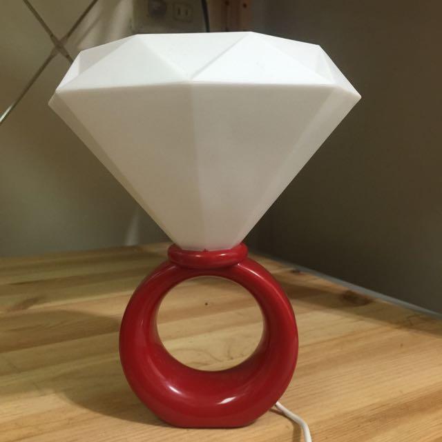 鑽石小夜燈 檯燈