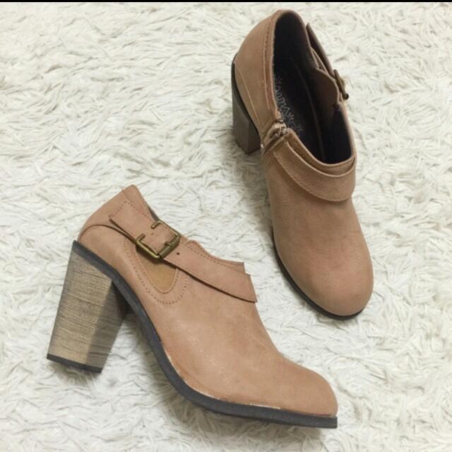 正韓 氣質 短靴 鞋 裸靴